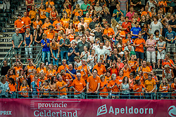 08-07-2017 NED: World Grand Prix Dominican Republic - Japan, Apeldoorn<br /> Fourth match of first weekend of group C during the World Grand Prix / Dominican Republic defeats Japan with 3-1 - Oranje support publiek