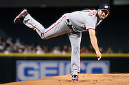 PHOENIX, AZ - AUGUST 03:  Max Scherzer #31 of the Washington Nationals delivers a pitch during the first inning against the Arizona Diamondbacks at Chase Field on August 3, 2016 in Phoenix, Arizona.  (Photo by Jennifer Stewart/Getty Images)