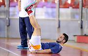 DESCRIZIONE : Roma Lega A 2014-15 <br /> Acea Virtus Roma - Acqua Vitasnella Cantu<br /> GIOCATORE : Rok Stipcevic<br /> CATEGORIA : pre game riscaldamento<br /> SQUADRA : Acea Virtus Roma<br /> EVENTO : Campionato Lega A 2014-2015 <br /> GARA : Acea Virtus Roma - Acqua Vitasnella Cantu<br /> DATA : 10/05/2015<br /> SPORT : Pallacanestro <br /> AUTORE : Agenzia Ciamillo-Castoria/N. Dalla Mura<br /> Galleria : Lega Basket A 2014-2015  <br /> Fotonotizia : Roma Lega A 2014-15 Acea Virtus Roma - Acqua Vitasnella Cantu