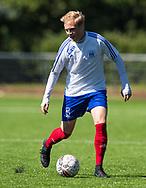 FODBOLD: Lasse Würz (Herlev) under kampen i Danmarksserien mellem Herlev Fodbold og Jægersborg Boldklub den 17. juni 2017 i Herlev Park. Foto: Claus Birch