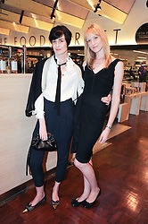 Left to right, ERIN O'CONNOR and JADE PARFITT at a party to celebrate the launch of Bang a new male fragrance by Marc Jacobs held at the Fith Floor Restaurant, Harvey Nichols, Knightsbridge, London on 22nd July 2010.