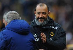 Wolverhampton Wanderers manager Nuno shakes hands with Cardiff City manager Neil Warnock - Mandatory by-line: Nizaam Jones/JMP - 02/03/2019 - FOOTBALL - Molineux - Wolverhampton, England -  Wolverhampton Wanderers v Cardiff City - Premier League