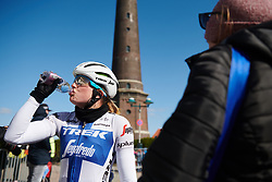 Lotta Lepistö (FIN) after winning Healthy Ageing Tour 2019 - Stage 1, a 102.5 km road race starting and finishing in Borkum, Germany on April 10, 2019. Photo by Sean Robinson/velofocus.com