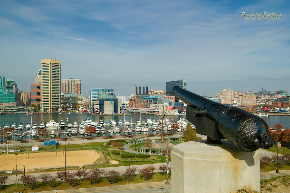 View of the Inner Harbor from Federal Hill Park