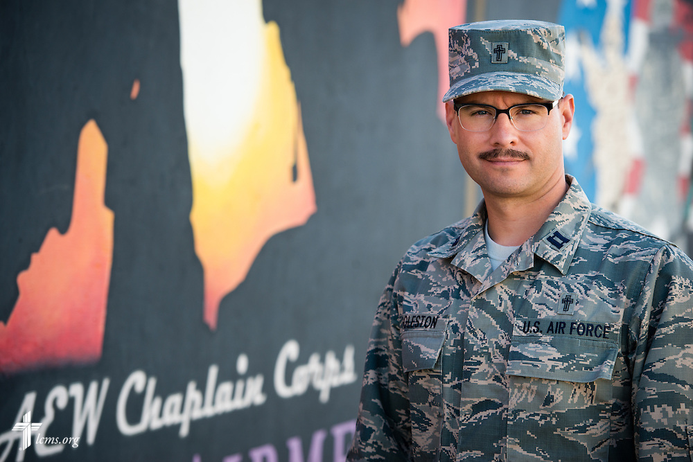 Portrait of Air Force Capt. Joseph Eggleston, chaplain, 386th Air Expeditionary Wing on Monday, March 23, 2015. LCMS Communications/Erik M. Lunsford