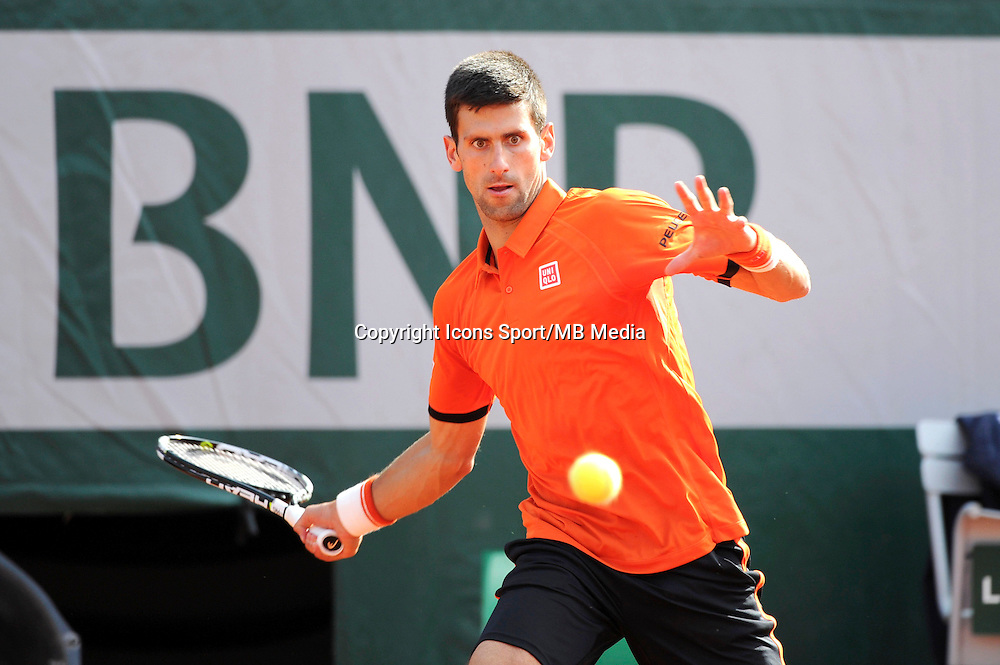 Novak DJOKOVIC  - 01.06.2015 - Jour 9 - Roland Garros 2015<br /> Photo : Nolwenn Le Gouic / Icon Sport