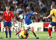 Marseille, FRANCE - 12th September 2007, Andrea Lo Cicero of Italy  during the Rugby World Cup, pool C, match between Italy and Romania held at the Stade Velodrome in Marseille, France...Photo: Ron Gaunt/ Sportzpics