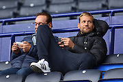 Ex Bolton Wanderers goalkeeper Jussi Jaaskelainen watches the players warm up from the stands before the EFL Sky Bet League 1 match between Bolton Wanderers and Bradford City at the Macron Stadium, Bolton, England on 24 September 2016. Photo by Simon Brady.