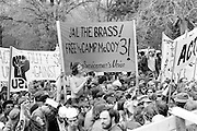 Antiwar protestors on the U.S. Capitol grounds during massive demonstrations against the Vietnam war on April 23, 1971 as Lt. John Kerry prepares to speak. - To license this image, click on the shopping cart below -