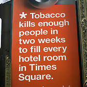 Billboard Ad Tobacco kill enough people in two weeks to fill every hotel room in Times Square