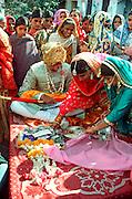 INDIA, HINDUISM, CEREMONIES Wedding; groom receiving presents