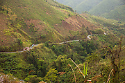 Hiway 13 over the mountains between Vang Vieng and Luang Prabang, Laos.