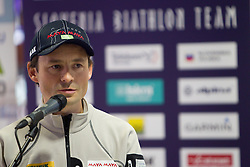 Matej Oblak at press conference of Slovenia Biathlon team before new season 2010 - 2011, on November 24, 2010, in Emporium, BTC, Ljubljana, Slovenia.  (Photo by Vid Ponikvar / Sportida)