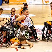 NLD/Rotterdam/20190706 - BN'ers spelen rolstoelbasketbal tijdens EK rolstoelbasketbal vrouwen, nr. 11 Chèr Korver en nr.9 Jitske Visser