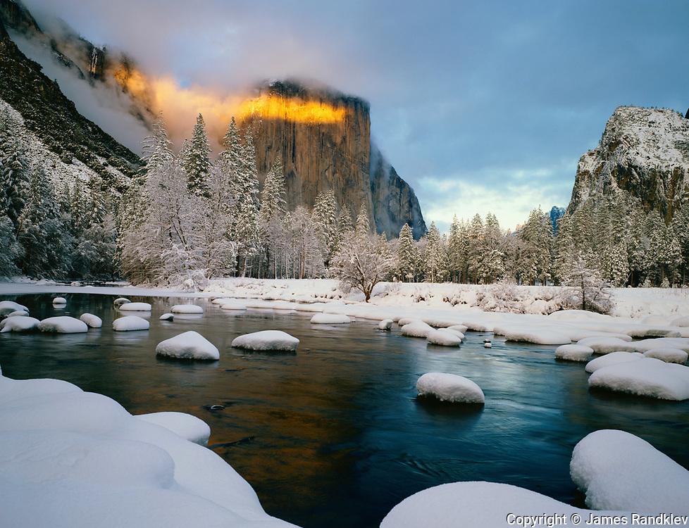 Winter light on El Capitan.