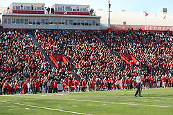 17 November 2012:  Last regular season game in old configuration of Hancock Stadium during an NCAA Missouri Valley Football Conference football game between the North Dakota State Bison and the Illinois State Redbirds at Hancock Stadium in Normal IL
