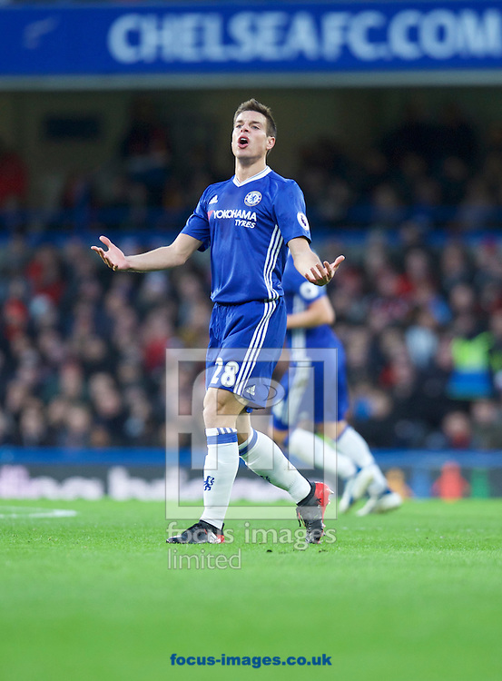 Cesar Azpilicueta of Chelsea during the Premier League match at Stamford Bridge, London<br /> Picture by Alan Stanford/Focus Images Ltd +44 7915 056117<br /> 26/12/2016