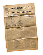 Stars and Stripes newspaper for 7 June, 1944…the day after the D-Day invasion.