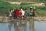 Children by an African River