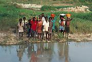 Children by an African River