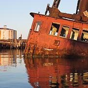Steam Lighter Bucyrus, Boatyard April 9, 2005