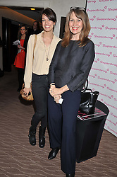 Left to right, CAROLINE JACKSON and LOUISE YOUNG at the Cosmetic Executive Women (CEW) UK Beauty Awards 2012 held at the Intercontinental Hotel, Hamilton Place, London on 27th March 2012.