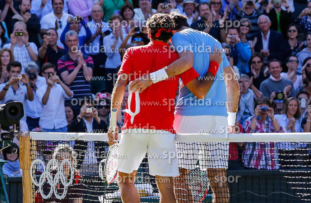 Olympic Games London 2012, Tennis men.Roger Federer (SUI) and Juan Martin DEL PORTO.© pixathlon