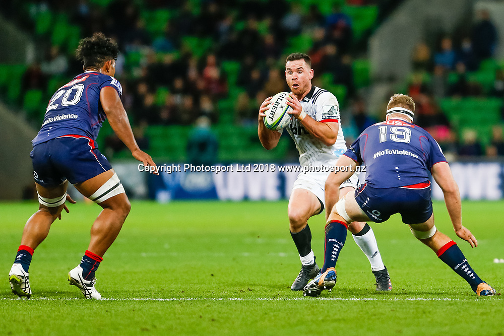 Ryan Crotty during Rebels v Crusaders, 2018 Super Rugby season, AAMI Park, Melbourne, Australia. 4 May 2018. Copyright Image: Brendon Ratnayake / www.photosport.nz