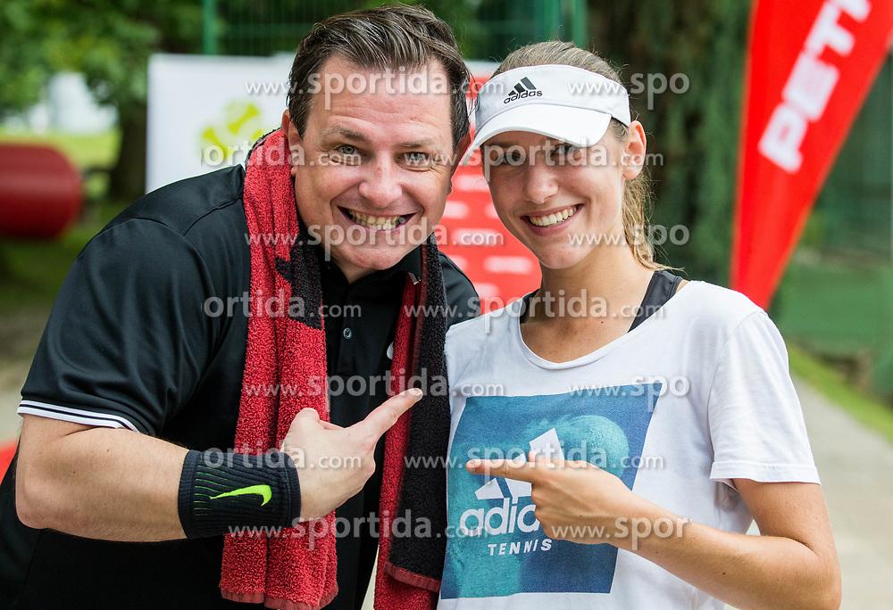 Rado Mulej and Kaja Juvan at Petrol VIP tournament 2018, on May 24, 2018 in Sports park Tivoli, Ljubljana, Slovenia. Photo by Vid Ponikvar / Sportida