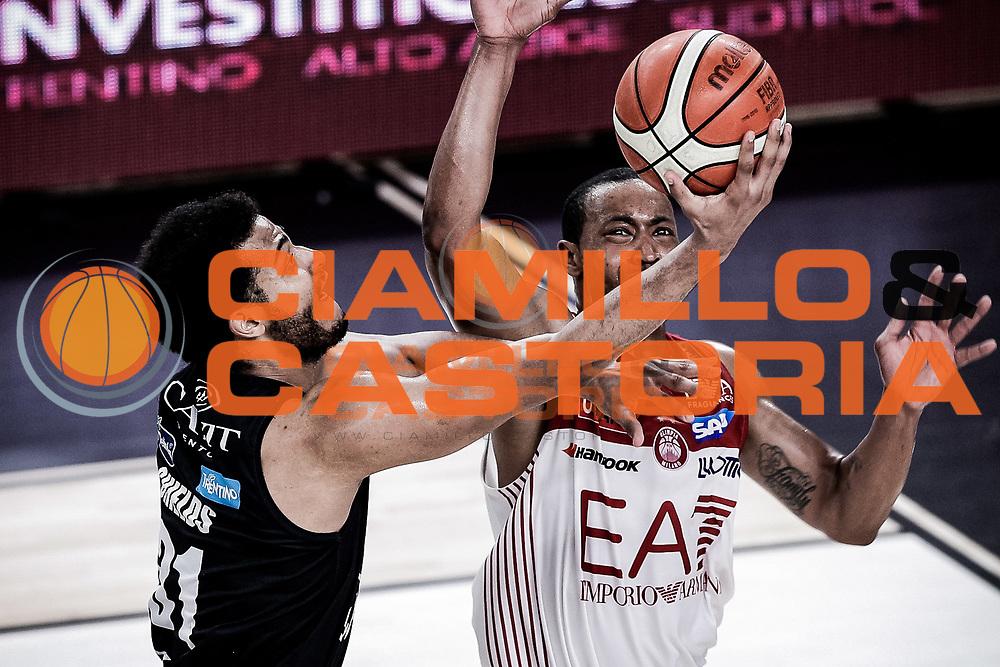Shields Shavon, DOLOMITI ENERGIA TRENTINO vs EA7 EMPORIO ARMANI OLIMPIA MILANO, gara 4 Finale Play off Lega Basket Serie A 2017/2018, PalaTrento Trento 11 giugno 2018 - FOTO: Bertani/Ciamillo