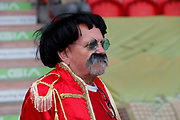 A fan of Accrington Stanley in fancy dress during the EFL Sky Bet League 1 match between Doncaster Rovers and Accrington Stanley at the Keepmoat Stadium, Doncaster, England on 23 April 2019.