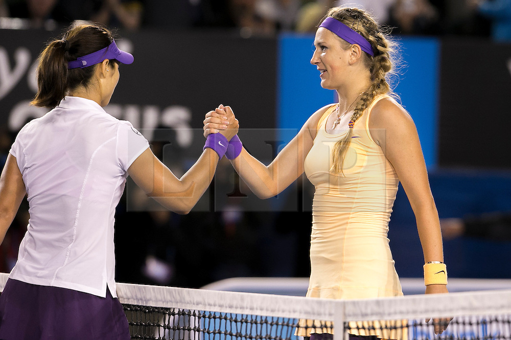 © Licensed to London News Pictures. 26/01/2013. Melbourne Park, Australia. during the Womens Final between Victoria Azarenka and Li Na of the Australian Open. Photo credit : Asanka Brendon Ratnayake/LNP