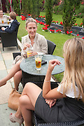 ROSANNA CRAWLEY; HOLLY JOHNSTONE, Archant Summer party. Kensington Roof Gardens. London. 7 July 2010. -DO NOT ARCHIVE-© Copyright Photograph by Dafydd Jones. 248 Clapham Rd. London SW9 0PZ. Tel 0207 820 0771. www.dafjones.com.