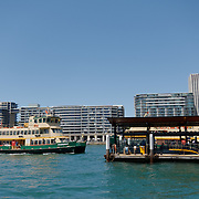 Sydney Ferries to Manly Beach approching the terminal