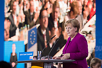 26 FEB 2018, BERLIN/GERMANY:<br /> Angela Merkel, CDU, Bundeskanzlerin, waehrend ihrer Rede, CDU Bundesparteitag, Station Berlin<br /> IMAGE: 20180226-01-063<br /> KEYWORDS: Party Congress, Parteitag