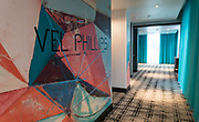 A mural commemorating Madison civil rights pioneer Vel Phillips inside Hotel Indigo along East Washington Avenue in Madison, WI on Wednesday, April 17, 2019.