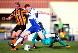 Rory Gaffney of Bristol Rovers scores a goal - Mandatory by-line: Robbie Stephenson/JMP - 18/07/2017 - FOOTBALL - Estadio da Nora - Albufeira,  - Hull City v Bristol Rovers - Pre-season friendly