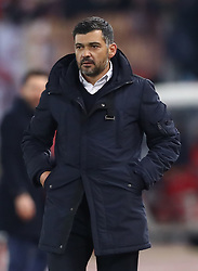 February 12, 2019 - Rome, Italy - AS Roma v FC Porto : UEFA Champions League Round of 16 .Porto manager Sergio Conceicao at Olimpico Stadium in Rome, Italy on February 12, 2019. (Credit Image: © Matteo Ciambelli/NurPhoto via ZUMA Press)