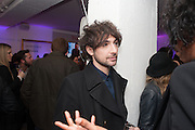 ALEX ZANE, Maison Triumph launch to celebrate the beginning of London fashion week. Monmouth St. 14 February 2013.