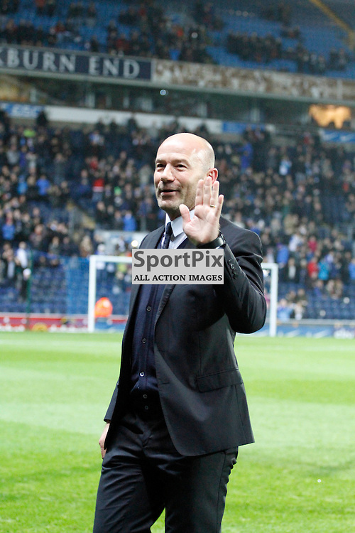 Alan Shearer waves to the crowd after been given an road named after him during Blackburn Rovers v Nottingham Forest, SkyBet Championship, Monday 14th December 2015, Ewood Park, Blackburn