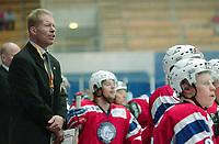 Ishockey, 10. februar 2005, Norge - Danmark, Roy Johansen, trener for Norge. Foto Andy Mueller/Digitalsport