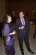 Nathalie Graham. and Editor of the Sunday Times John Witherow. Sunday Times Christmas party. British Museum. 27  November 2000. © Copyright Photograph by Dafydd Jones 66 Stockwell Park Rd. London SW9 0DA Tel 020 7733 0108 www.dafjones.com