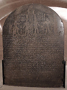 Stele : King Nastasen and his mother in front of the god Ammon About 330 BC Napata, Gebel Barkal (Sudan) granite.