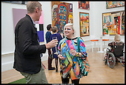 RICHARD KIRWAN; NICKY CARVELL, Royal Academy of Arts Summer Exhibition 2014. Piccadilly. London. 4 June 2014.