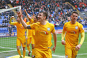 Preston North End Striker Jordan Hugill makes it 1-1 during the Sky Bet Championship match between Bolton Wanderers and Preston North End at the Macron Stadium, Bolton, England on 12 March 2016. Photo by Pete Burns.