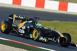 18.02.2011, Circuit de Catalunya, Barcelona, ESP, Formel 1 Test 3 2011,  im Bild Heikki Kovalainen (FIN), Lotus F1 Racing EXPA Pictures © 2011, PhotoCredit: EXPA/ nph/  Dieter Mathis       ****** out of GER / SWE / CRO  / BEL ******