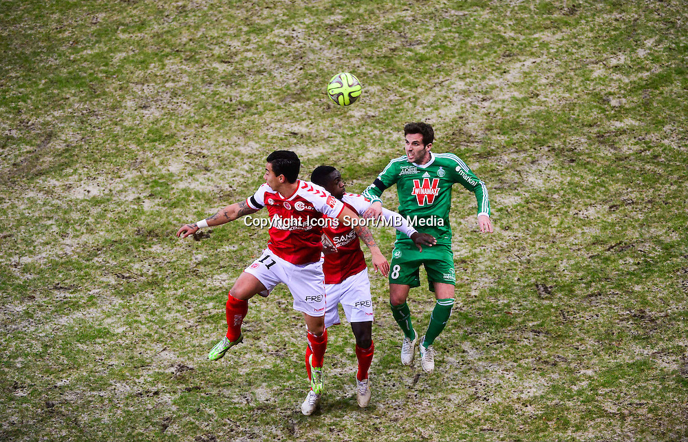 DIEGO RIGONATO / Chris MAVINGA / Benjamin CORGNET  - 10.01.2015 - Reims / Saint Etienne - 20eme journee de Ligue 1<br />