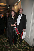 Tom Bower and Veronica Wadley,  Costa Book Awards 2006. Grosvenor House Ballroom. Park Lane, London. 7 February 2007. -DO NOT ARCHIVE-© Copyright Photograph by Dafydd Jones. 248 Clapham Rd. London SW9 0PZ. Tel 0207 820 0771. www.dafjones.com.
