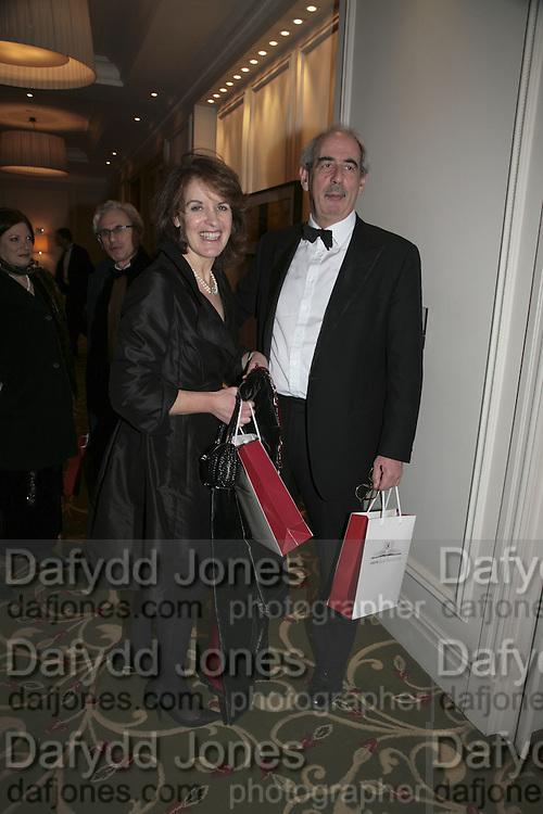 Tom Bower and Veronica Wadley,  Costa Book Awards 2006. Grosvenor House Ballroom. Park Lane, London. 7 February 2007. -DO NOT ARCHIVE-© Copyright Photograph by Dafydd Jones. 248 Clapham Rd. London SW9 0PZ. Tel 0207 820 0771. www.dafjones.com.