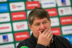 during Presentation of new coach of KK Petrol Olimpija Ljubljana, Sasa Nikitovic, on November 23, 2018 in SRC Stozice, Ljubljana, Slovenia. Photo by Ziga Zupan / Sportida